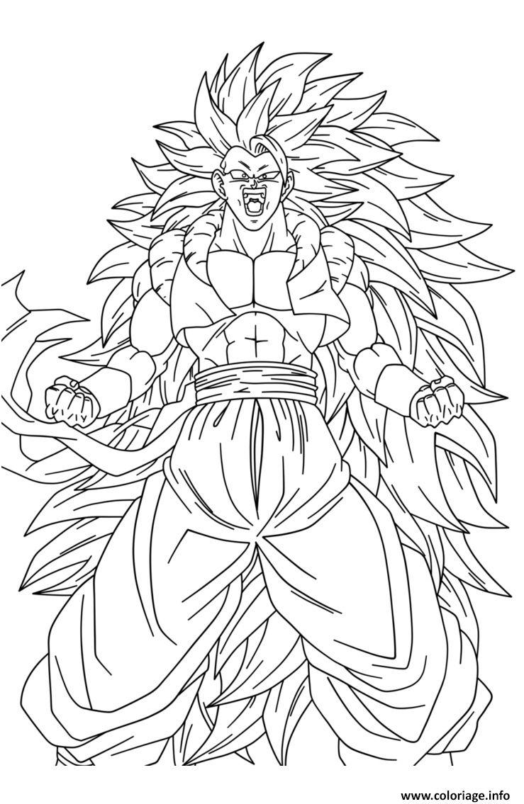 Coloriage Dragon Ball Z Sangoku Super Sayen 100