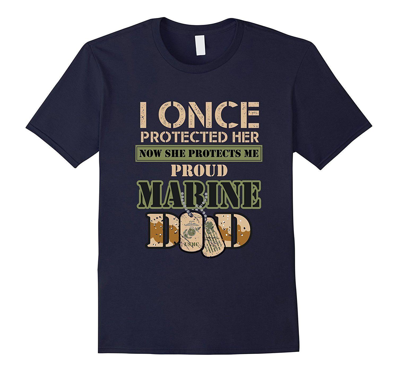 Men's Proud Marine Dad of His Military Daughter T-Shirt