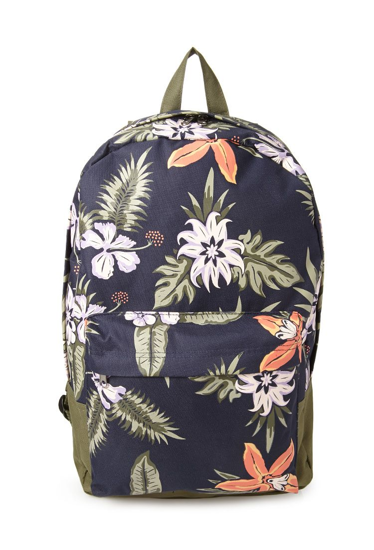 Tropical Print Backpack | 21 MEN Going to the tropics | - Backpack ...