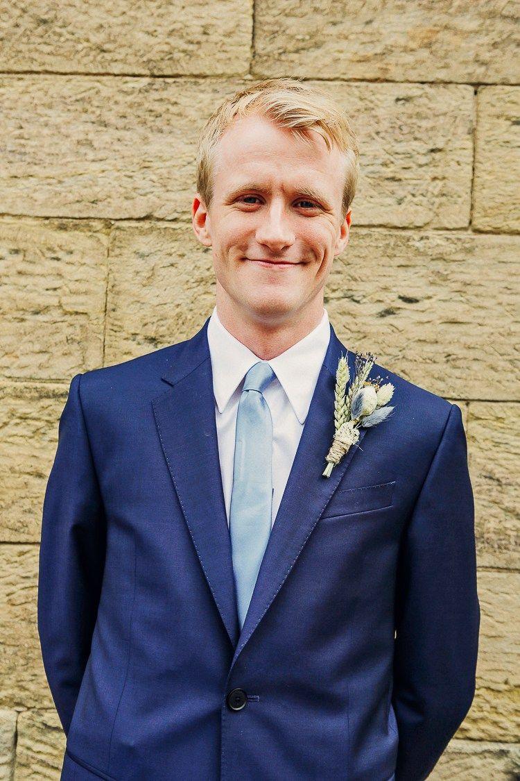 Paul Smith Blue Suit Groom Tie Rustic Treehouse Wedding http ...
