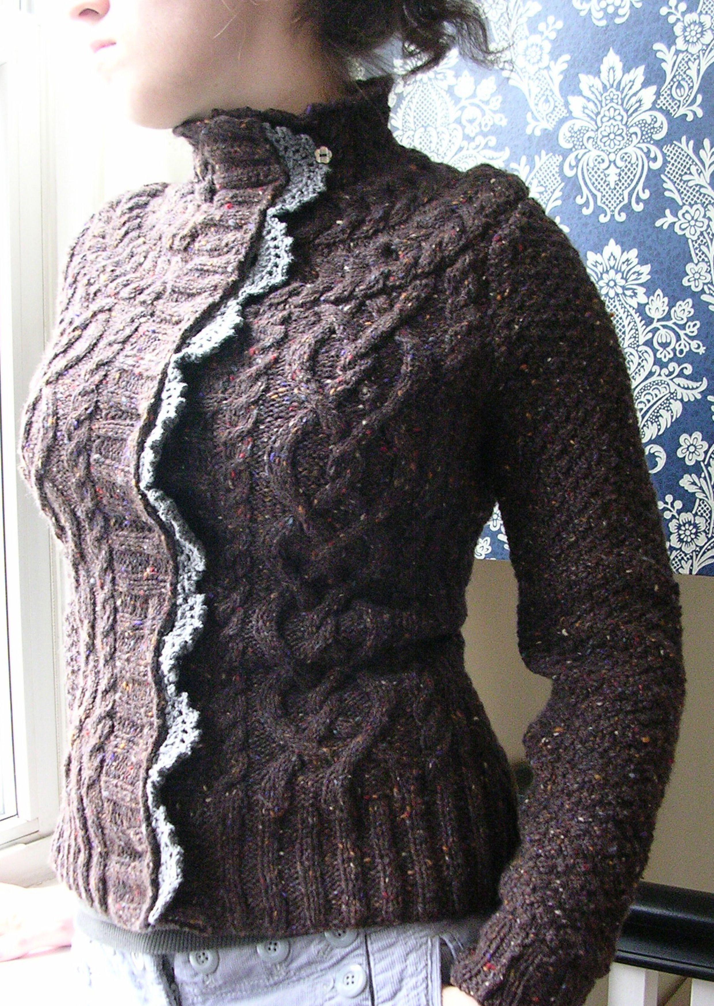 knit cardigan pattern   Knitting things   Pinterest   Häkelspitze ...