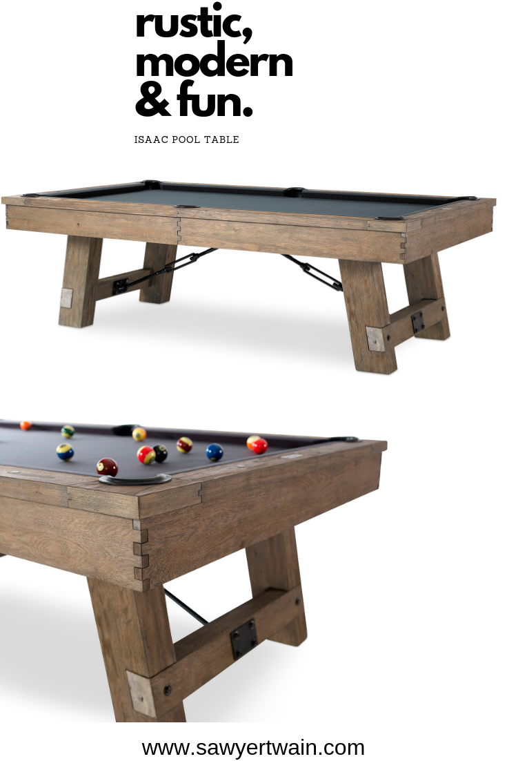 Rustic Pool Table The Isaac Is Available Today Billiard Pool
