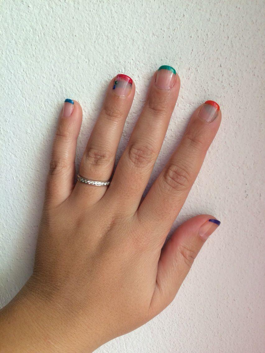 Manicura Francesa Colores Nails Diy Pinterest Manicura - Manicura-francesa-colores