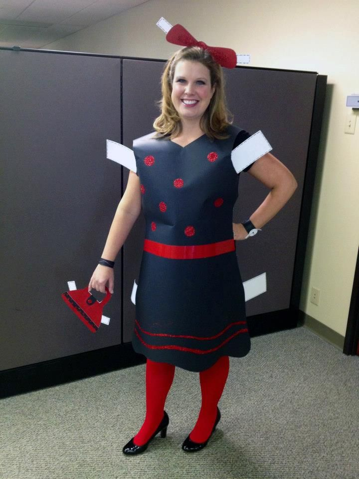 Halloween Costume Theme Ideas For Office.Creative Halloween Costume For The Office Paper Doll Halloween