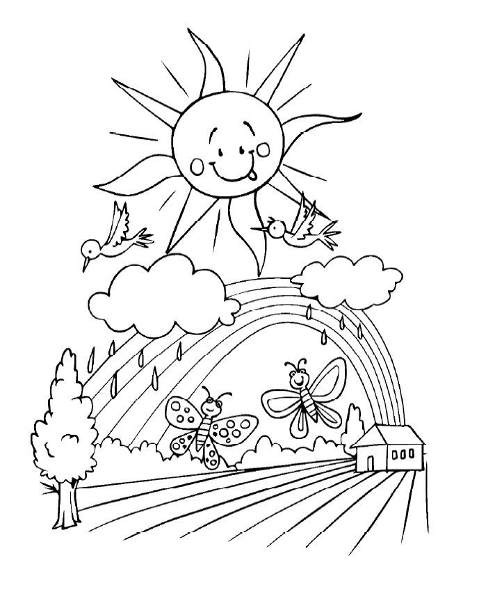 Kids Will Love These Free Springtime Coloring Pages