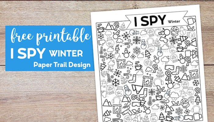 Free Printable I Spy Winter Activity (With images) | I spy ...
