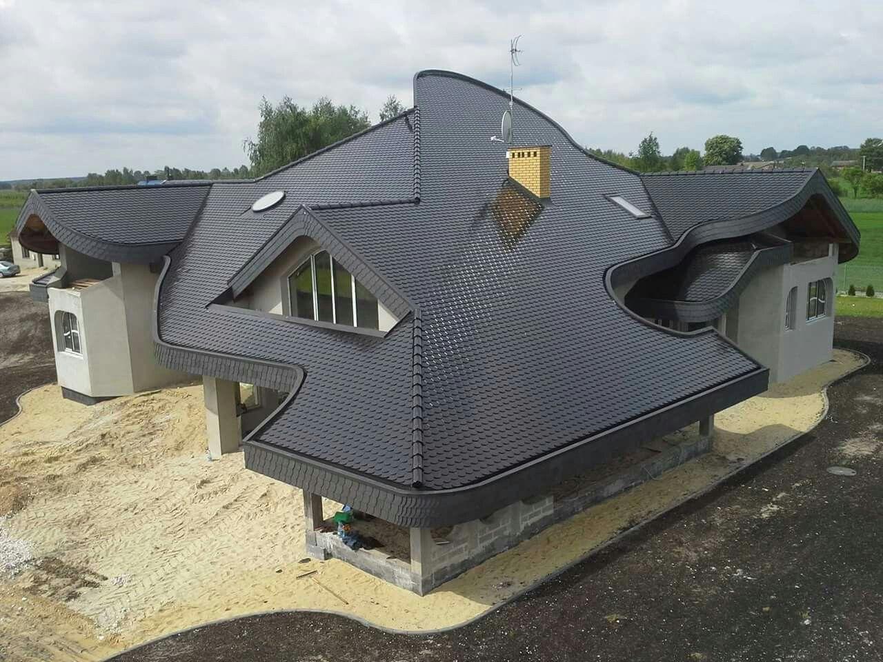Unique Roof Poland Architecture Design House Exterior Architecture