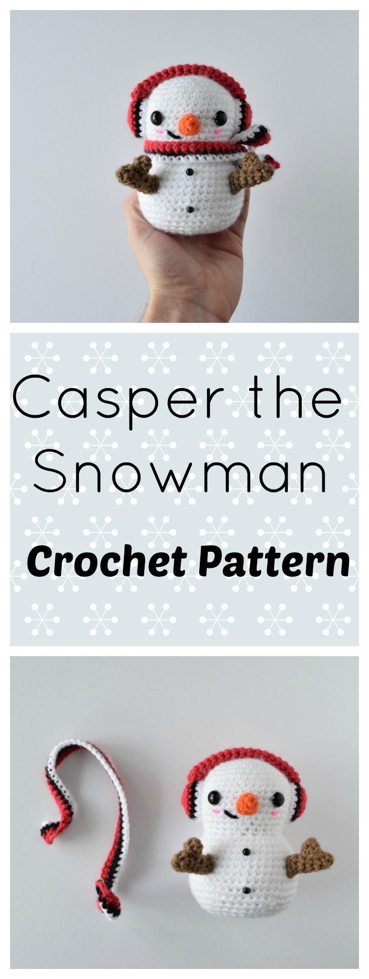 Crochet Snowman Free Amigurumi Pattern- Pokeball Themed | Cute ...