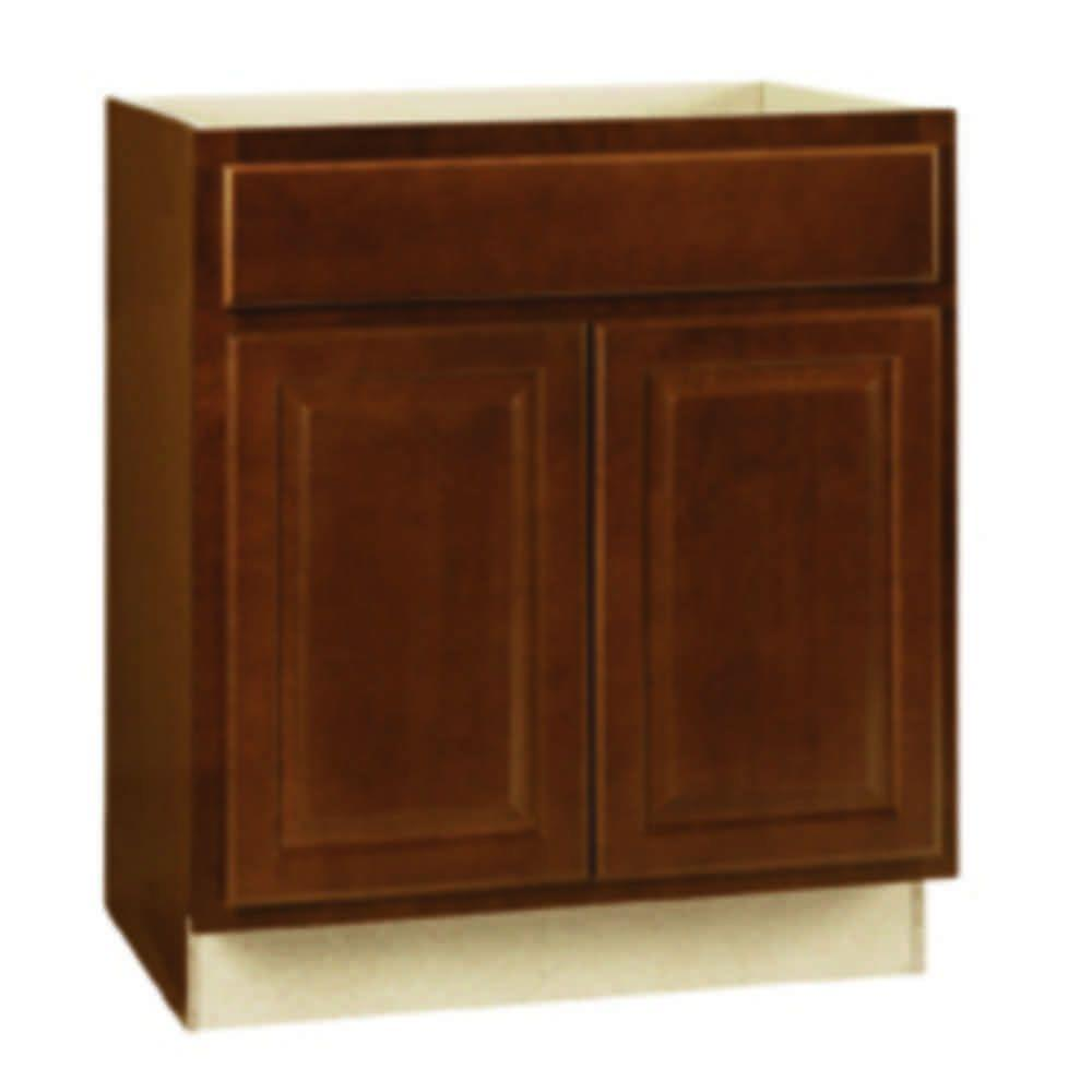 Hampton Bay Hampton Assembled 30x34 5x24 In Sink Base Kitchen Cabinet In Cognac Ksb30 Cog The Home In 2020 Base Cabinets Bathroom Vanity Base Kitchen Base Cabinets