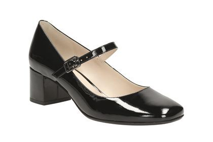 Black Pop Clarks Patent Shoes Womens Chinaberry From In Smart XiTOPkuZ