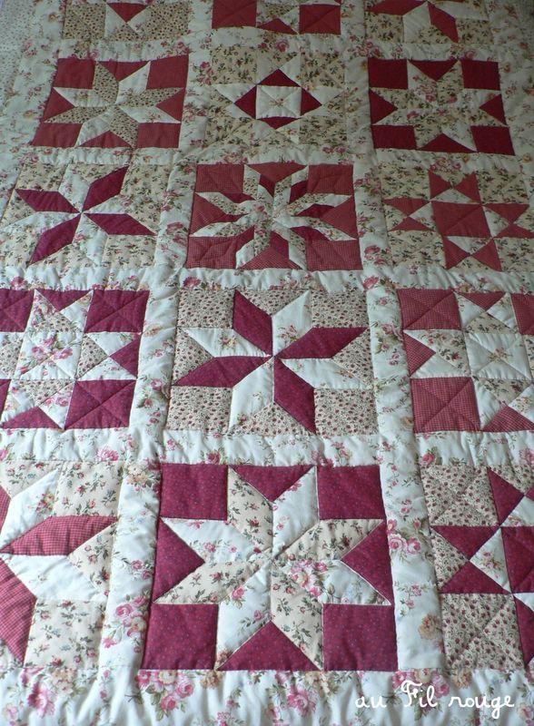 Patron dessus de lit patchwork quilt pinterest - Patchwork modele gratuit dessus de lit ...
