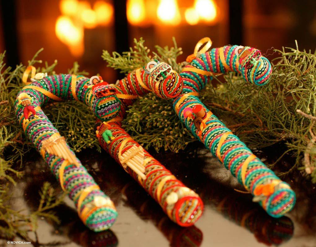 Ornaments (Set of 3) Christmas Wish NOVICA Christmas