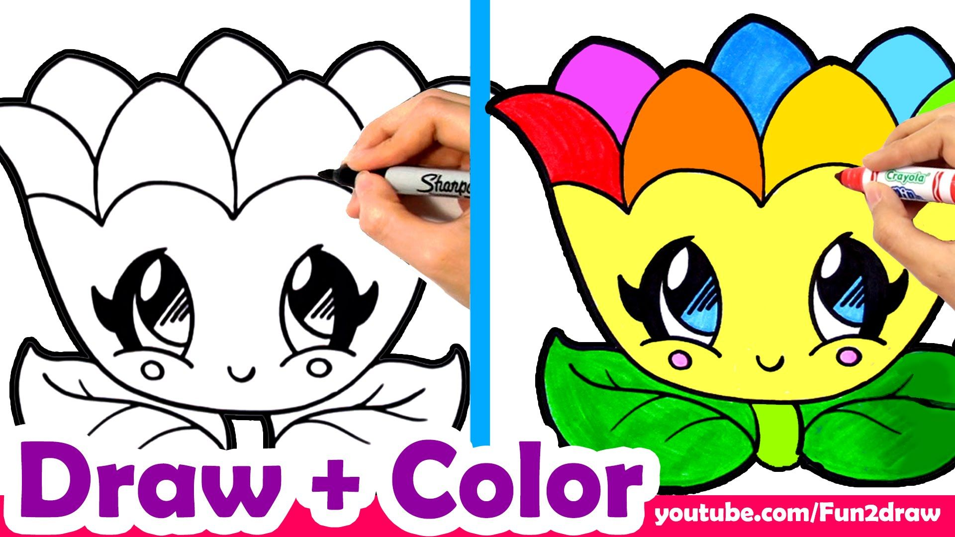 Learn to Draw a Rainbow Flower for Mom, Mum, Cute + Easy ...