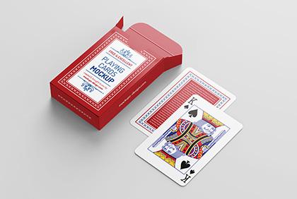 Free Playing Cards Mockup Mockups Design Playing Card Box Playing Cards Design Design Mockup Free