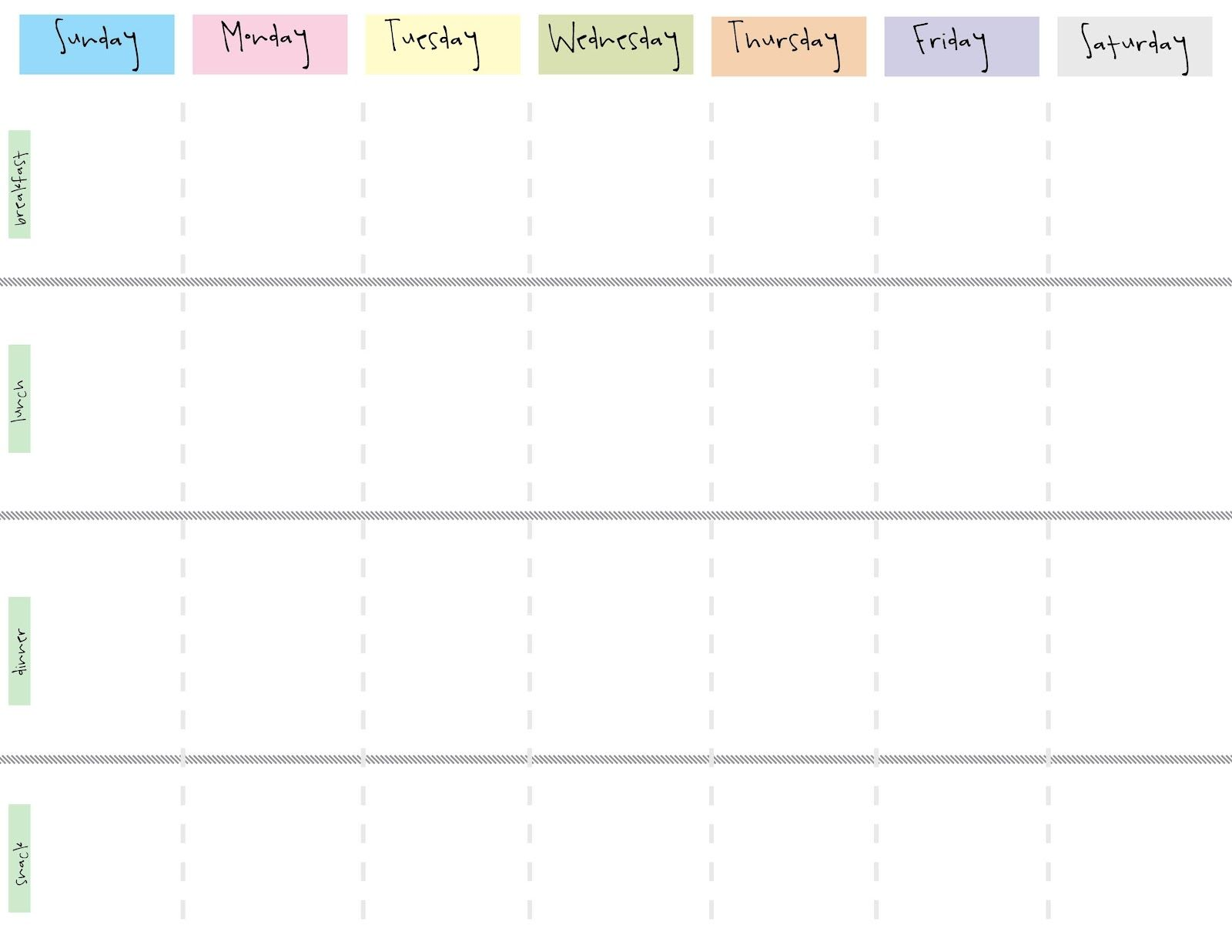 graphic about Weekly Calendar Printable named 8 great pictures of adorable printable weekly calendar printable