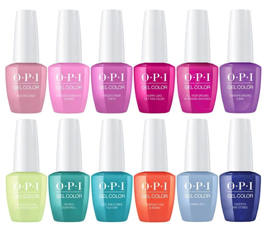 Opi Gelcolor Tokyo Collection Spring Summer 2019 Opi Gel Spring Nail Colors Opi Gel Nails
