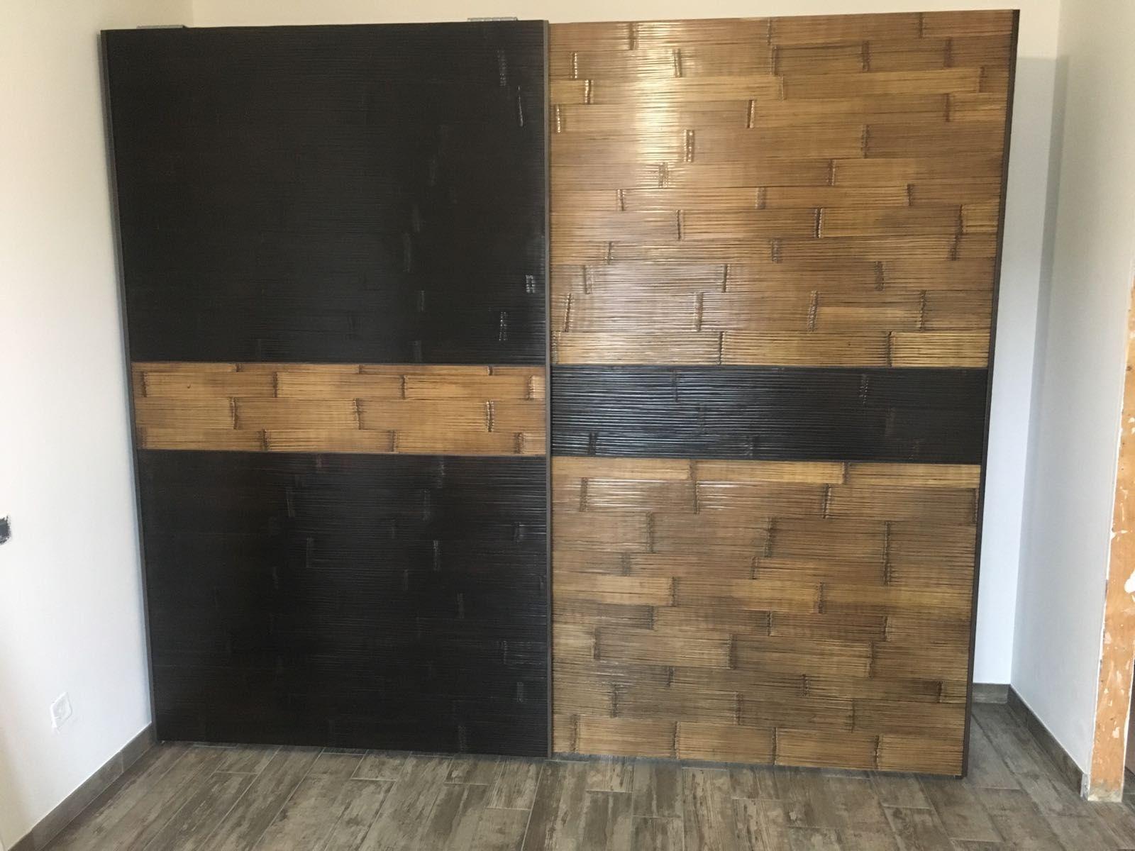 armadio 2 ante maxi da cm 140 scorrevole in legno e bamboo ...