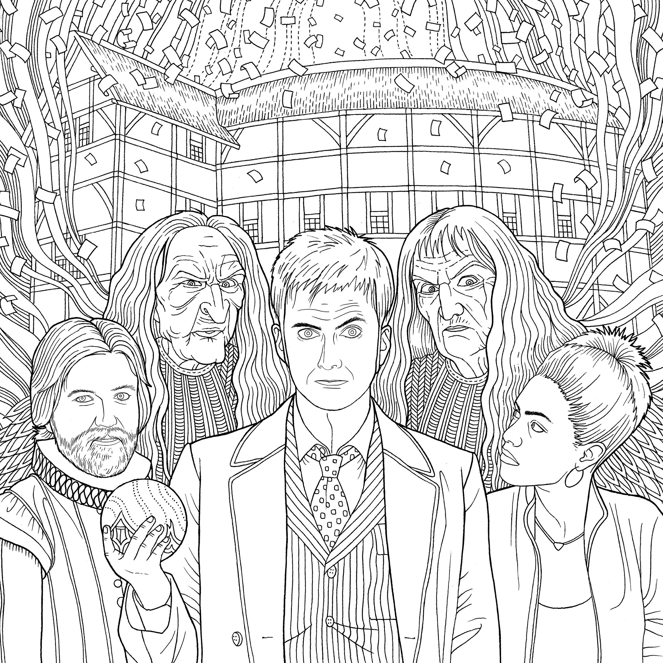 Doctor Who Travels In Time Colouring Book Amazon