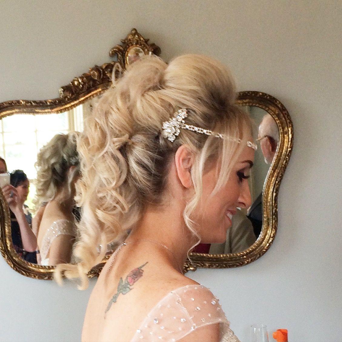 wedding hair by lisa cameron newton hall bridesmaid