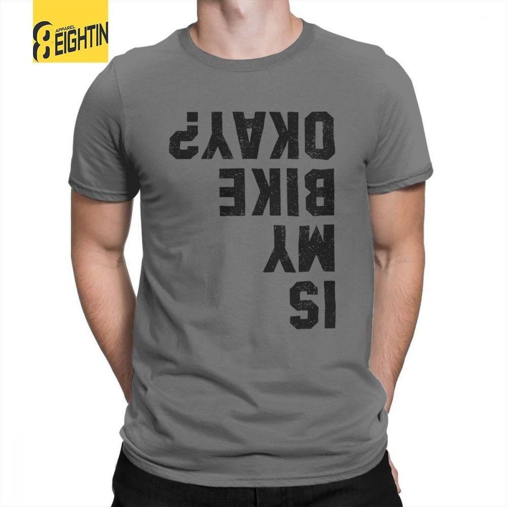 Funny Cycling Bicycle Motorcycle Biker Man S T Shirts Mens