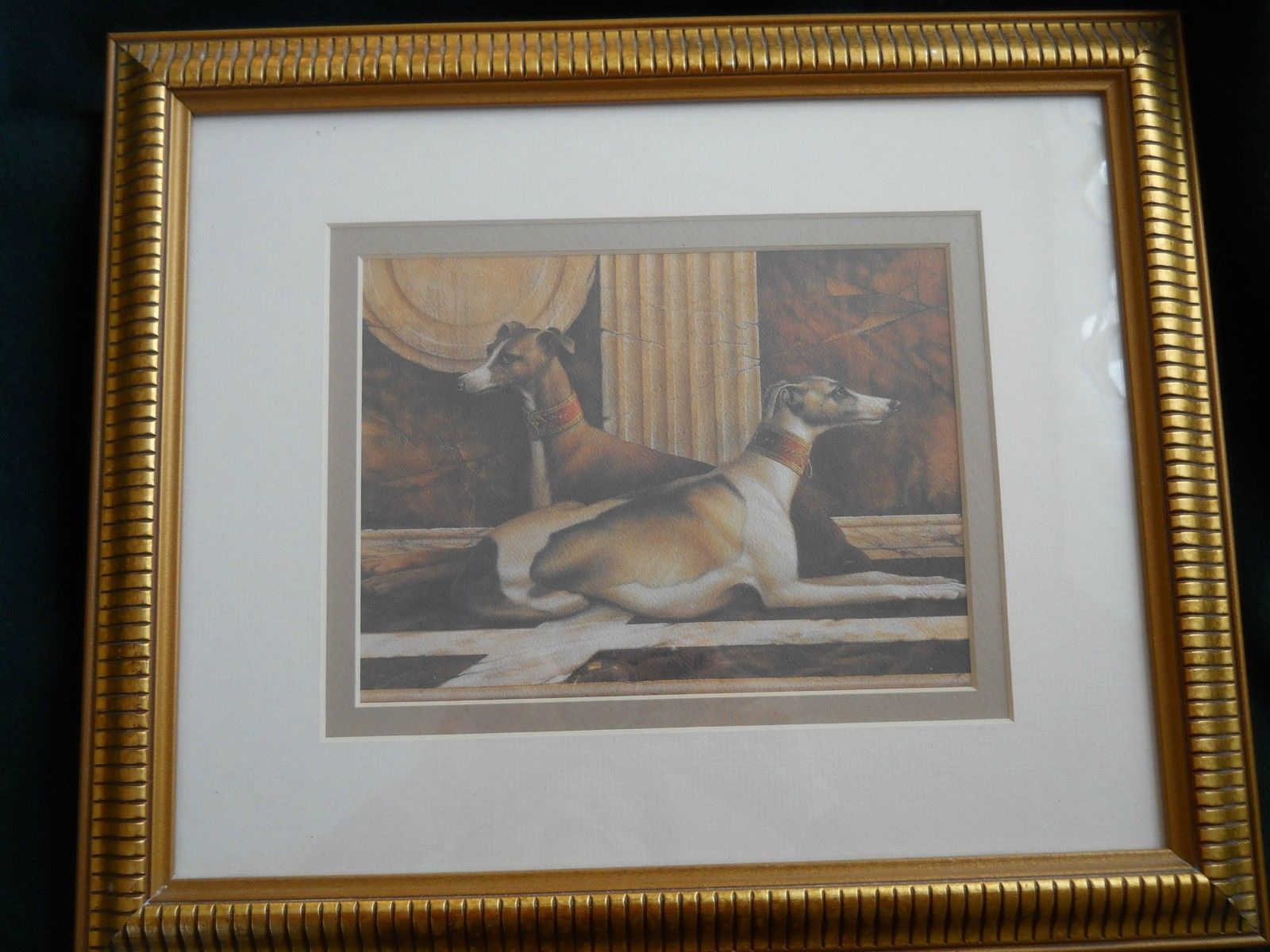 Greyhounds in 18th century elegant gold wood frame 12 x 15 greyhounds in 18th century elegant gold wood frame 12 x 15 vollherbst jeuxipadfo Gallery