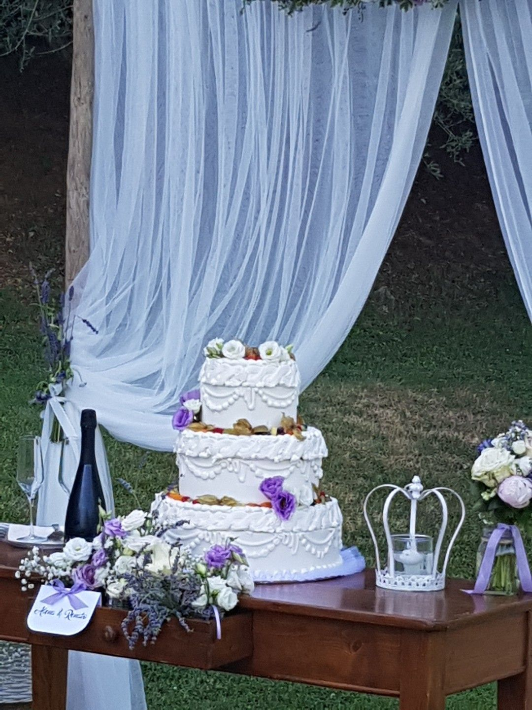 Wedding ceremony in winery wedding design and floral graveeventworld