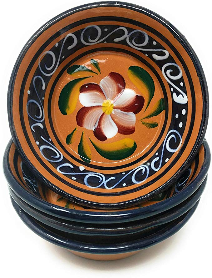 Amazon Com Pozole Bowls Clay Bowls Handcrafted Hand Painted Serving Bowl Set Of 4 Serving Bowls Serving Bowl Set Clay Bowl Artisan Pottery