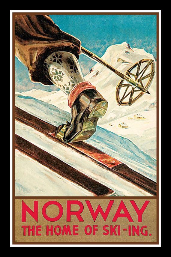MAGNET  TRAVEL Photo Magnet NORWAY Cradle of Ski-ing