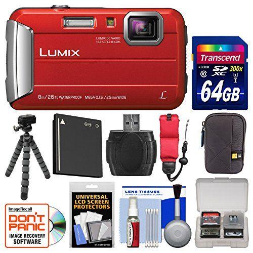 Panasonic Lumix Dmc Ts30 Tough Shock Waterproof Digital Camera Red With 64gb Card Ca Waterproof Digital Camera Best Waterproof Camera Best Digital Camera