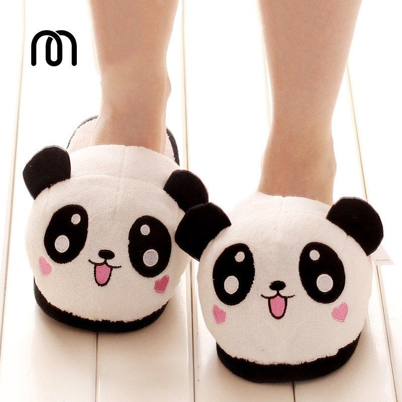 1638d1837d9df5 Cute Panda Pokemon Plush Cotton Sloppers | Kawaii & Harajuku em 2019 ...