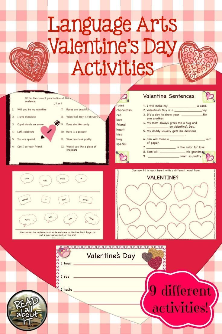 This Packet Contains The Following Activities... U2022 1 Valentine Acrostic  Poem U2022 1