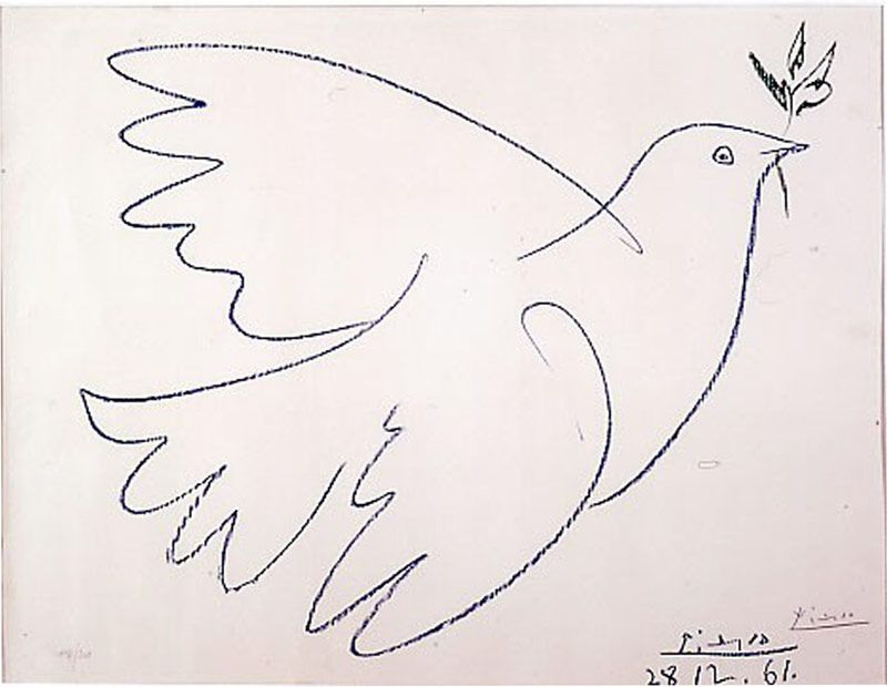 Picasso Line Drawing Tattoo : Picasso s line drawings of peace doves what i would get