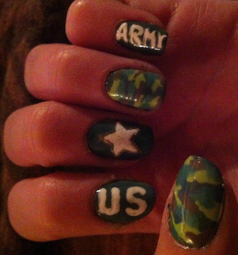 Army nails - US Army Nails Cute Nail Designs Pinterest Army Nails