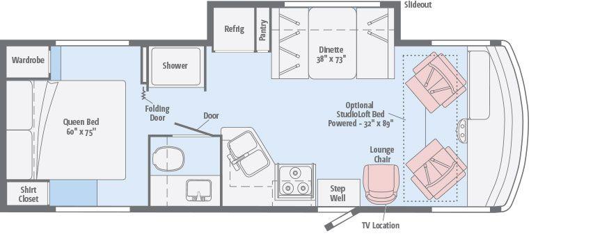 Sunstar Floorplans Winnebago Rvs With Images Rv Floor Plans