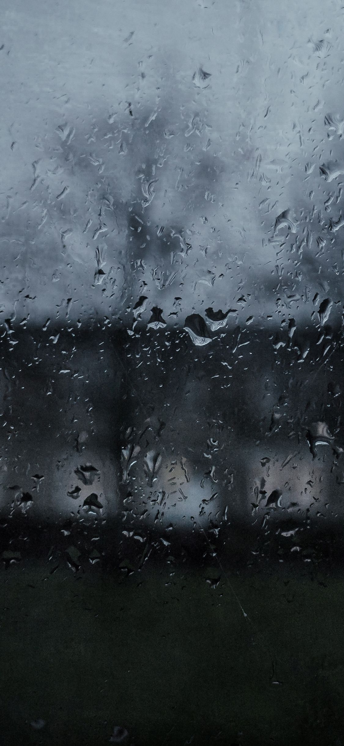 IPhoneX Wallpaper Mi63 Good To Stay Home Dark Rainy Window