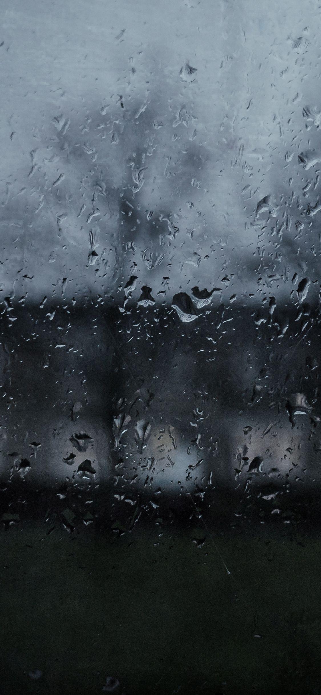 Iphonex Wallpaper Mi63 Good To Stay Home Dark Rainy Window