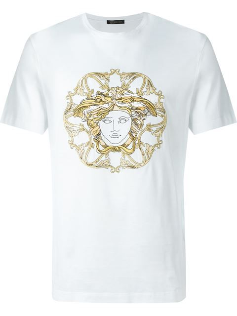 bfa60034 VERSACE Embroidered Medusa T-Shirt. #versace #cloth #t-shirt ...