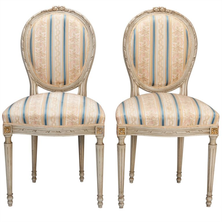 1stdibs Set Of Eight Upholstered French Dining Chairs