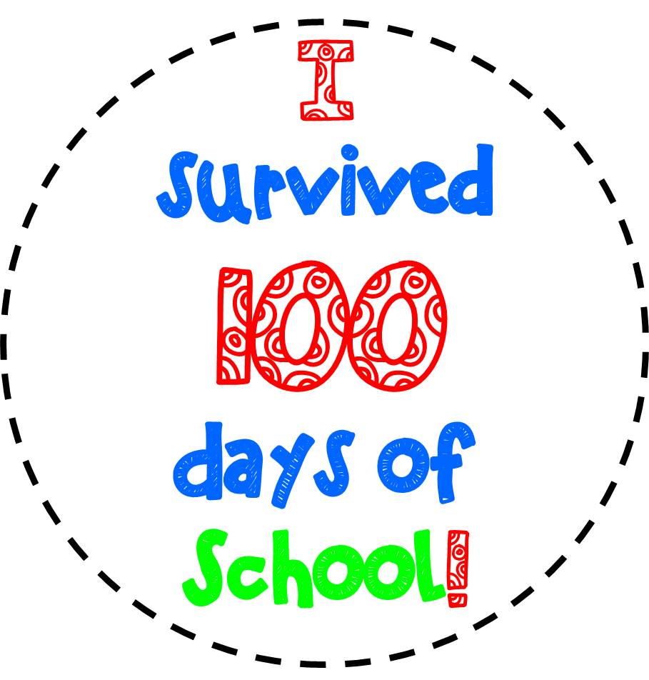 hight resolution of free 100th day of school clipart