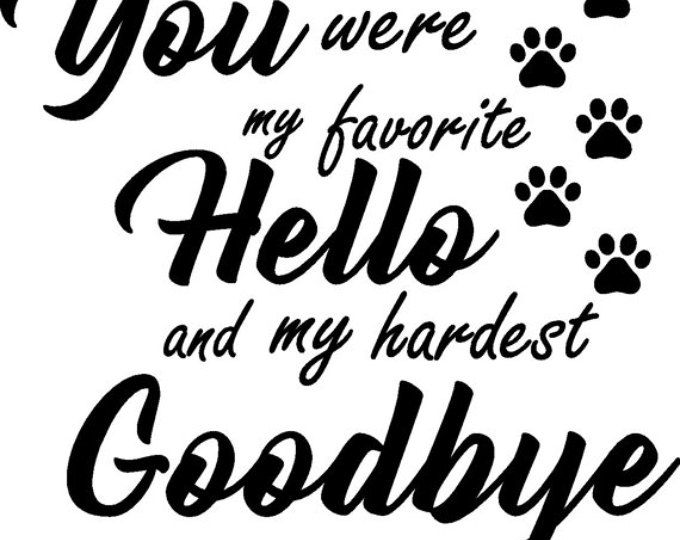 Favorite hello/ Hardest Goodbye (With images) | Pet picture frame