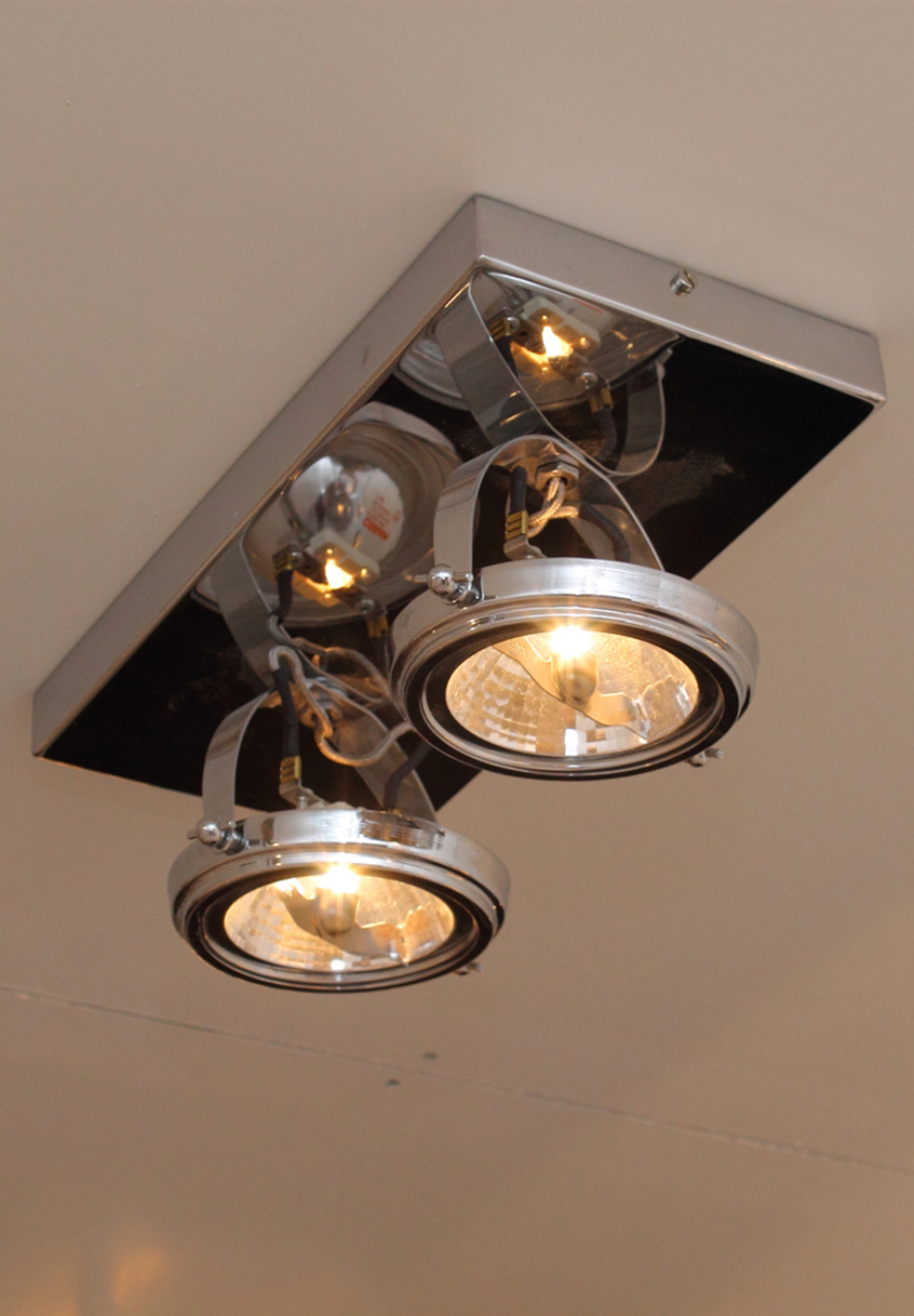 Welp Plafondlamp landelijke stijl rechthoekig 2 spots | Plafondlamp EW-54