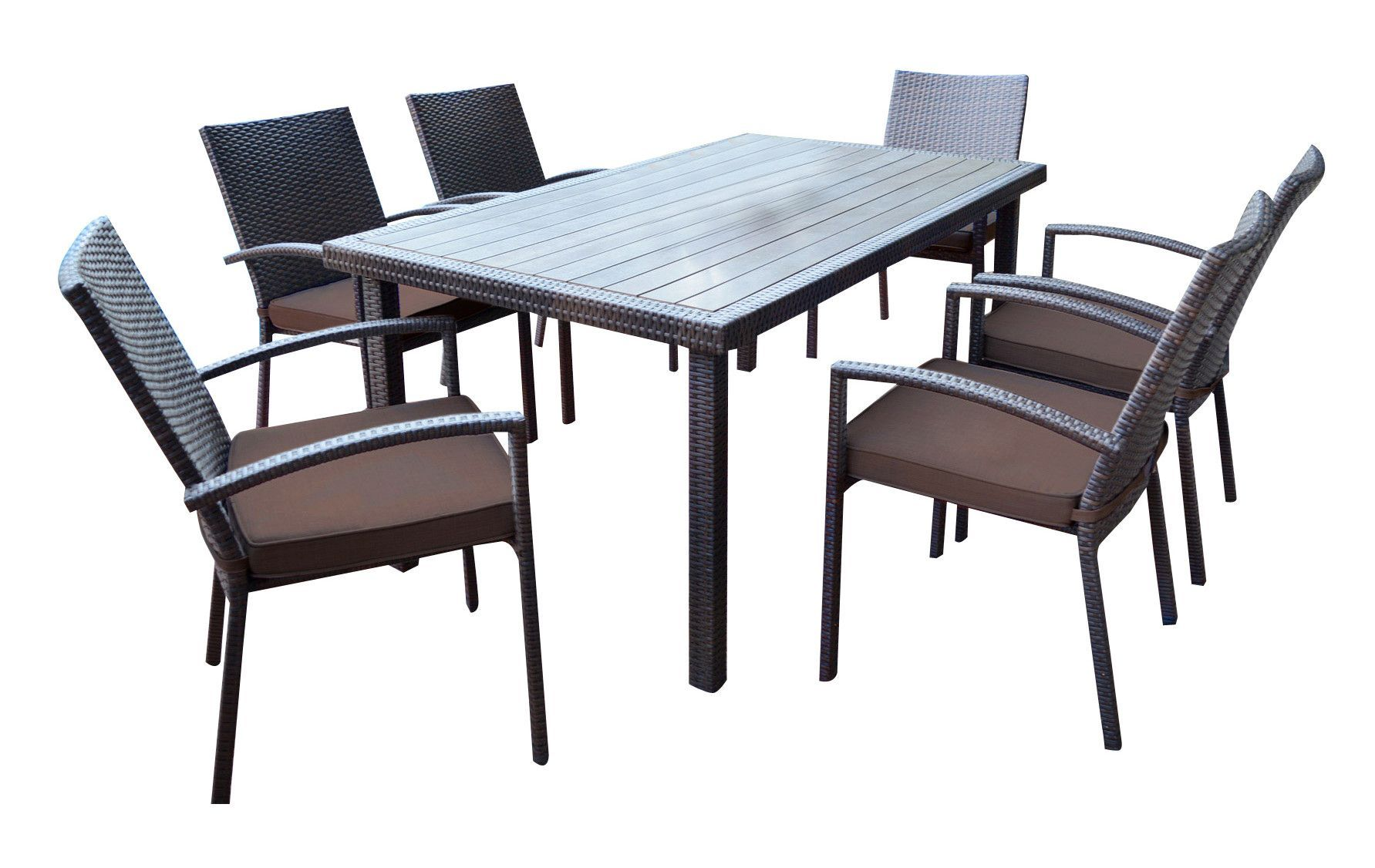 shull 7 piece dining set with cushions products 7 piece dining rh pinterest ch