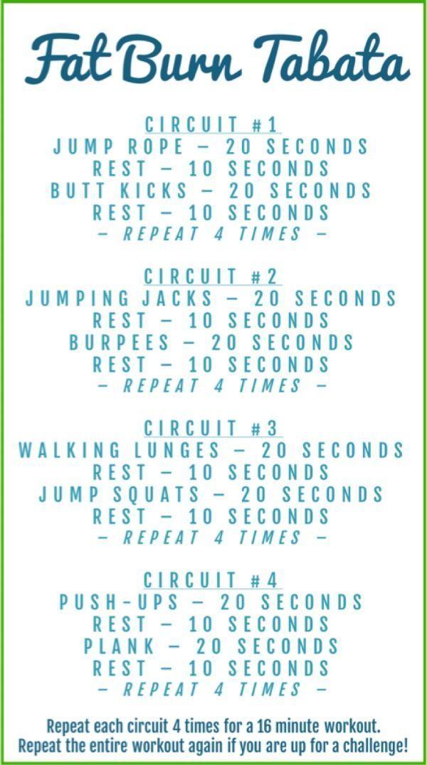 Fat Burn Tabata Workout #fitness #workout #tabata #heandsheeatclean #fitnessreddit