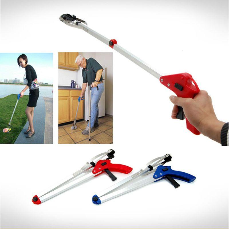 Folding Pick Up Reach Claw Grabber Gripper Kitchen Garden Trash Hand Tool Gadget