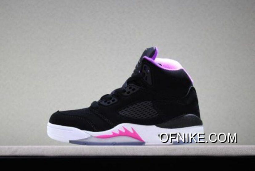 Latest Kid's Air Jordan 5 Retro Black
