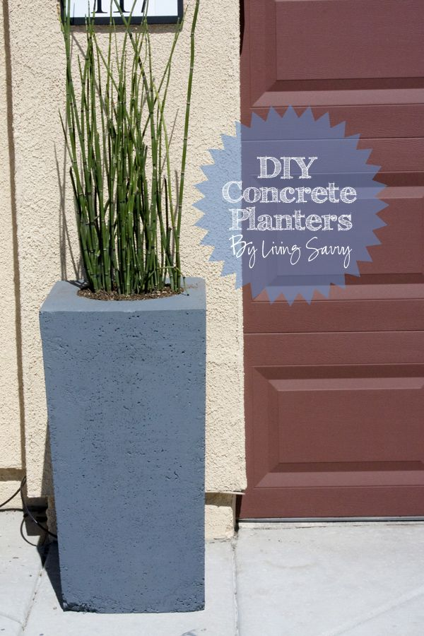 how to make large cement planters
