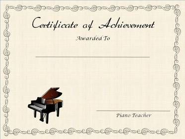 Free Printable Editable Certificates Endearing Free Printable Editable Award Certificates For Piano Teachers .