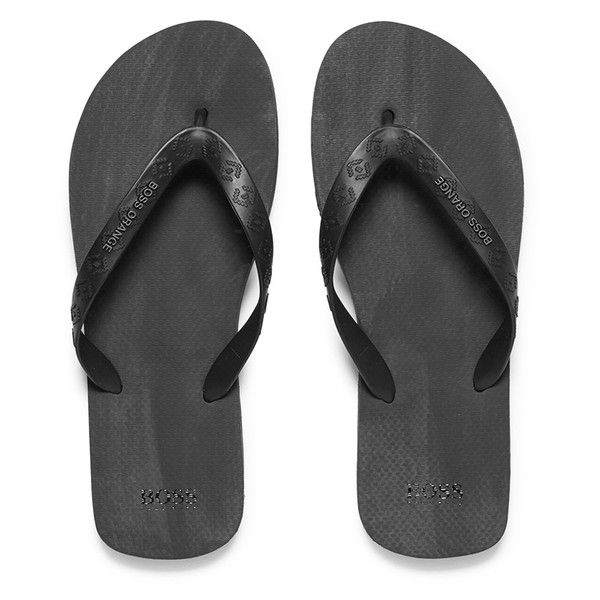 b5e050a2f BOSS Orange Men s Loy Flip Flops - Black (185 BRL) ❤ liked on Polyvore