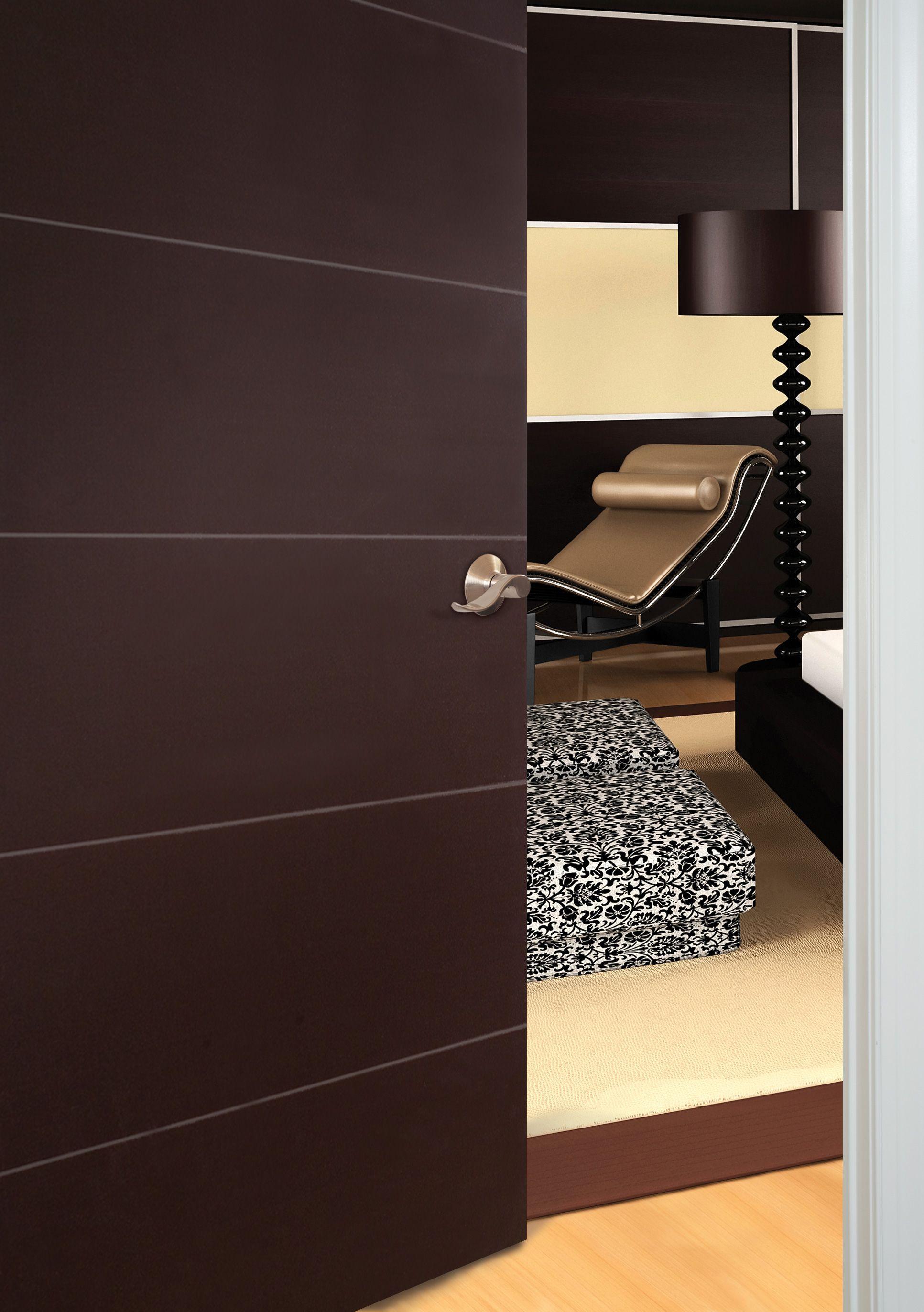Modern Home Office Featuring Masonite Melrose Style Interior Door