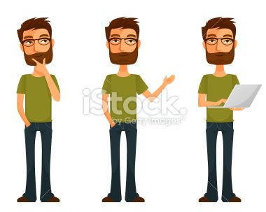 Cartoon Characters Guys : Http: www.istockphoto.com vector cute cartoon guy with beard and
